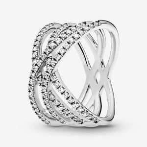 🍓Pandora Entwined Lines Ring